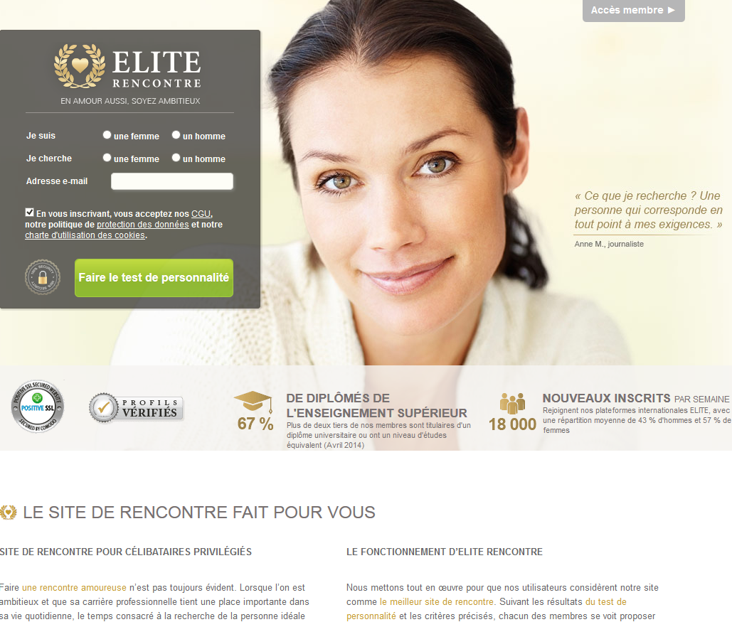 Site de rencontre elite.fr