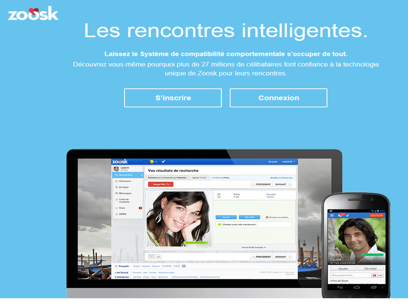 zoosk propose de multiples types de rencontre